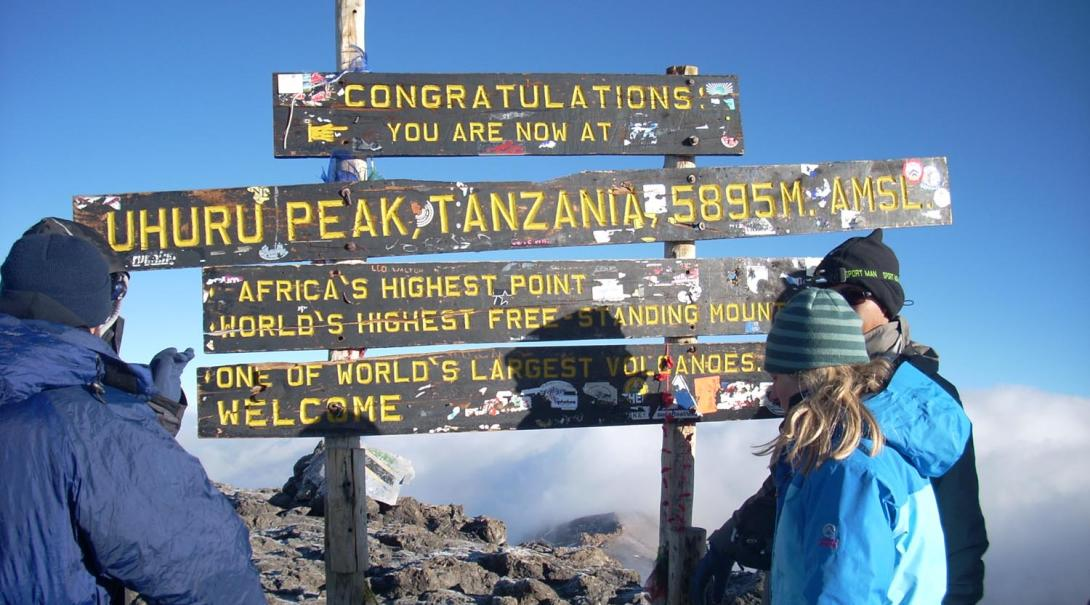The summit of exotic bucket list destination Mount Kilimanjaro